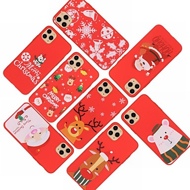 Недорогие Кейсы для iPhone 6 Plus-Кейс для Назначение Apple iPhone 11 / iPhone 11 Pro / iPhone 11 Pro Max С узором Кейс на заднюю панель Рождество ТПУ