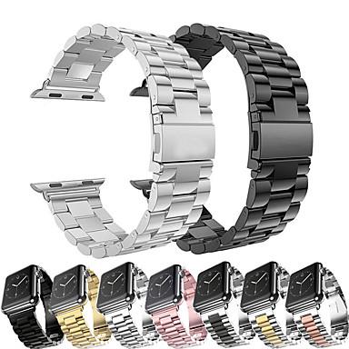 Недорогие Аксессуары для смарт-часов-Металлический браслет из нержавеющей стали для Apple Watch серии 5/4/3/2/1 сменный браслет ремешок на запястье браслет