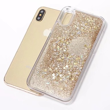 cheap iPhone Cases-Case For Apple iPhone X / iPhone 8 Plus / iPhone 8 Flowing Liquid / Pattern / Glitter Shine Back Cover Cartoon / Glitter Shine TPU