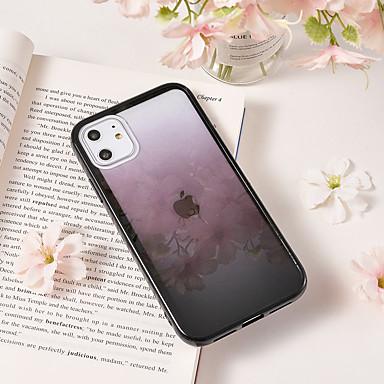 olcso iPhone 5 tokok-Case Kompatibilitás Apple iPhone 11 / iPhone 11 Pro / iPhone 11 Pro Max Minta Fekete tok Színátmenet TPU