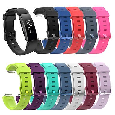 voordelige Smartwatch-accessoires-horlogeband voor fitbit ace 2 / fitbit inspire hr / fitbit inspire fitbit klassieke siliconen polsband met gesp