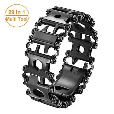 cheap Hand Tools-Man Outdoor Spliced Bracelet Leatherman Multi Tool Bracelet Stainless 29 In 1 Multi-function Tool Bracelet Survival Bracelet