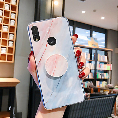 Недорогие Чехлы и кейсы для Xiaomi-Кейс для Назначение Xiaomi Xiaomi Redmi Примечание 5 / Xiaomi Mi 8 / Xiaomi Mi 8 Lite со стендом / С узором Кейс на заднюю панель Мрамор ТПУ