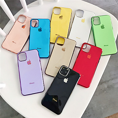 billige iPhone-etuier-Etui Til Apple iPhone 11 / iPhone 11 Pro / iPhone 11 Pro Max Belegg Bakdeksel Ensfarget TPU
