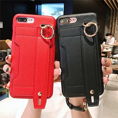 Недорогие Кейсы для iPhone 7 Plus-Кейс для Назначение Apple iPhone 11 / iPhone 11 Pro / iPhone 11 Pro Max Бумажник для карт Кейс на заднюю панель Однотонный Кожа PU