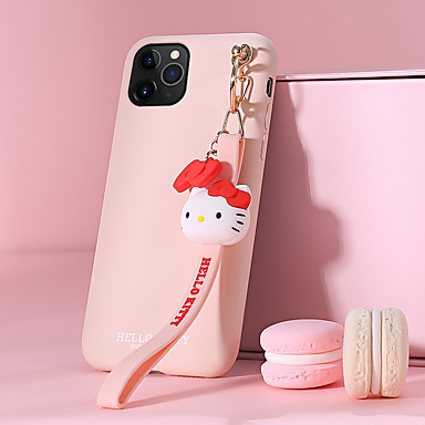 voordelige iPhone-hoesjes-hoesje Voor Apple iPhone 11 / iPhone 11 Pro / iPhone 11 Pro Max Patroon Achterkant Kat / Effen Siliconen