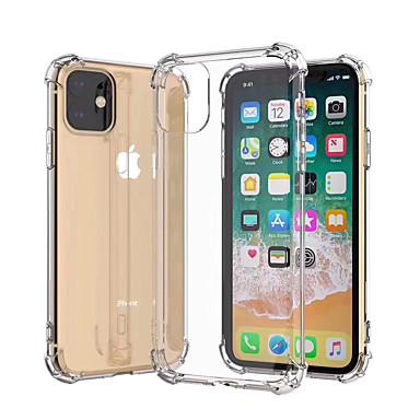 Недорогие Кейсы для iPhone 6-Кейс для Назначение Apple iPhone 11 / iPhone 11 Pro / iPhone 11 Pro Max Защита от удара / Защита от пыли / Ультратонкий Кейс на заднюю панель Прозрачный / Однотонный ТПУ / Металл
