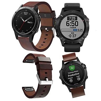voordelige Smartwatch-accessoires-Horlogeband voor Fenix 5 / Fenix6 / Fenix6 Pro Garmin Leren lus Echt leer Polsband