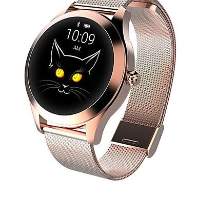 Недорогие Смарт-электроника-KW10 джокер SmartWatch золото из нержавеющей стали BT Поддержка фитнес-трекер уведомить / пульсометр спортивные умные часы для телефонов Samsung / Iphone / Android