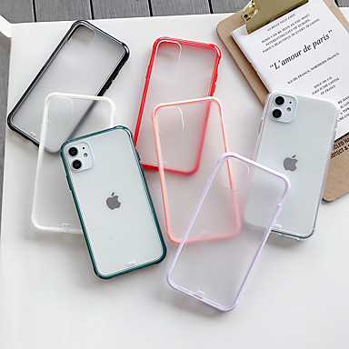 voordelige iPhone-hoesjes-hoesje Voor Apple iPhone 11 / iPhone 11 Pro / iPhone 11 Pro Max Mat / Transparant Achterkant Effen Acryl