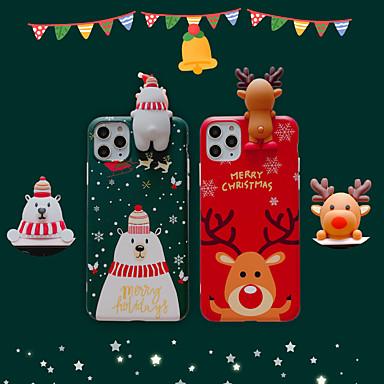 voordelige iPhone X hoesjes-hoesje Voor Apple iPhone 11 / iPhone 11 Pro / iPhone 11 Pro Max IMD / Mat / Patroon Achterkant Kerstmis TPU