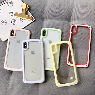 رخيصةأون أغطية أيفون-غطاء من أجل Apple اي فون 11 / iPhone 11 Pro / iPhone 11 Pro Max ضد الصدمات غطاء خلفي لون سادة TPU