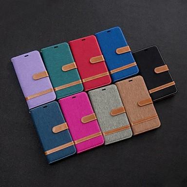 Недорогие Чехлы и кейсы для Xiaomi-Кейс для Назначение Xiaomi Xiaomi Redmi 7 / Redmi Note 7 / Redmi K20 Кошелек / Бумажник для карт / со стендом Чехол Плитка текстильный