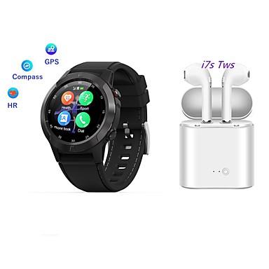 رخيصةأون ساعات ذكية-الملك ارتداء&سهل حصوي؛ M4 الرجال النساء smartwatch GPS بلوتوث دعوة ارتفاع معدل ضربات القلب وضع الرياضة متعددة مع سماعة بلوتوث لاسلكية tws