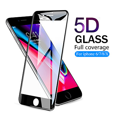 5D Full Cover Tempered Glass For iPhone 8 7 6 6S Plus X Screen Protector Protective glass
