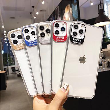 Недорогие Кейсы для iPhone 6-Кейс для Назначение Apple iPhone 11 / iPhone 11 Pro / iPhone 11 Pro Max Покрытие / Прозрачный Кейс на заднюю панель Однотонный Акрил