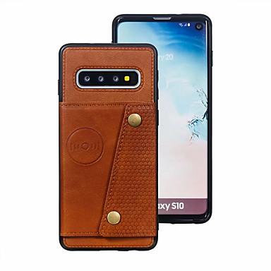 Недорогие Чехлы и кейсы для Galaxy Note-Кейс для Назначение SSamsung Galaxy S9 / S9 Plus / S8 Plus Бумажник для карт Кейс на заднюю панель Однотонный Кожа PU / ТПУ