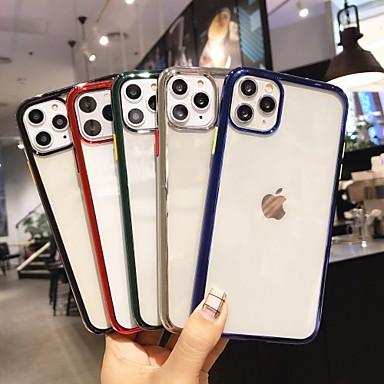 Недорогие Кейсы для iPhone 6 Plus-Кейс для Назначение Apple iPhone 11 / iPhone 11 Pro / iPhone 11 Pro Max Покрытие / Прозрачный Кейс на заднюю панель Однотонный ТПУ