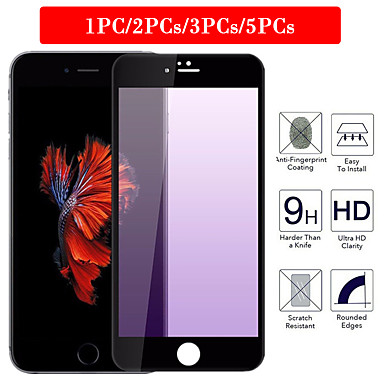voordelige iPhone screenprotectors-1pc / 2pcs / 3pcs / 5pcs gepolijst zeefdruk paars licht oogbeschermer hd iphone 8/7 / 8p / 7p / 66s / 6p 6sp gehard film