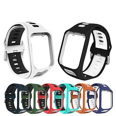 Недорогие Аксессуары для смарт-часов-сменный силиконовый браслет ремешок для часов ремешок для TomTom бегун 2 / бегун 3 / искра 3 / игрок в гольф 2 / аксессуар ремень браслет авантюрист