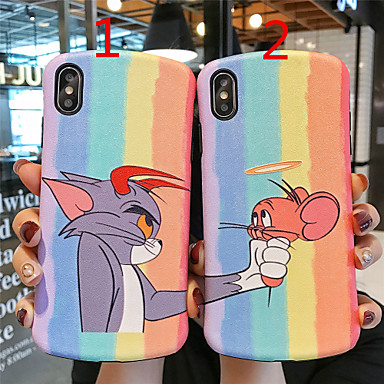 voordelige iPhone X hoesjes-hoesje Voor Apple iPhone 11 / iPhone 11 Pro / iPhone 11 Pro Max Mat / Reliëfopdruk / Patroon Achterkant Cartoon TPU