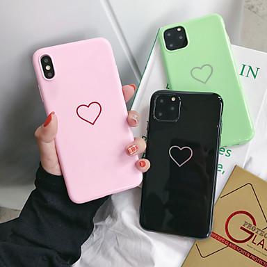 voordelige iPhone X hoesjes-hoesje Voor Apple iPhone 11 / iPhone 11 Pro / iPhone 11 Pro Max Stofbestendig / Beplating / IMD Achterkant Woord / tekst / Hart / Cartoon TPU