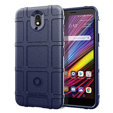 رخيصةأون LG أغطية / كفرات-غطاء من أجل LG LG V40 / LG V50 ThinQ / LG V35 ThinQ ضد الصدمات غطاء خلفي نموذج هندسي / درع سيليكون