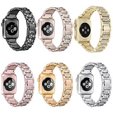 رخيصةأون أساور ساعات هواتف أبل-لتفاح مشاهدة الفرقة 40/38mm 42 / 44mm النساء الماس الفرقة لآبل مشاهدة سلسلة 5 4 3 2 iwatch سوار الفولاذ المقاوم للصدأ حزام