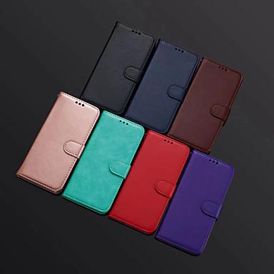 voordelige iPhone 6 hoesjes-hoesje Voor Apple iPhone XS / iPhone XR / iPhone XS Max Portemonnee / Kaarthouder / met standaard Volledig hoesje Effen PU-nahka