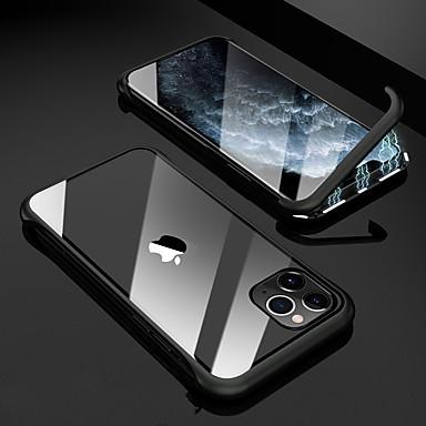 Недорогие Кейсы для iPhone-Кейс для Назначение Apple Защита от удара / Магнитный Кейс на заднюю панель Продукты питания Закаленное стекло / Металл