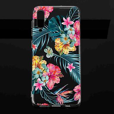 Недорогие Чехлы и кейсы для Galaxy А-Кейс для Назначение SSamsung Galaxy S9 / S9 Plus / S8 Plus Прозрачный / С узором Кейс на заднюю панель Цветы ТПУ