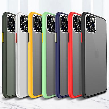 Недорогие Кейсы для iPhone X-Кейс для Назначение Apple iPhone 11 / iPhone 11 Pro / iPhone 11 Pro Max Матовое / Полупрозрачный Кейс на заднюю панель Однотонный Акрил