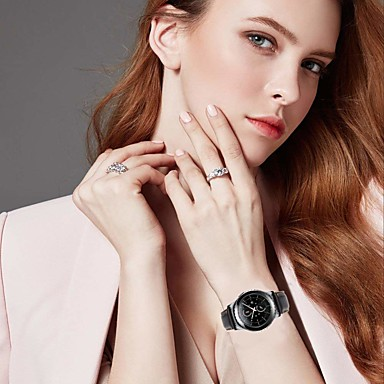 Недорогие Часы для Samsung-smartwatch band для samsung gear s3 / s3 classic / s3 frontier / gear 2 r380 / 2 neo r381 / galaxy 46 sport band высококачественная удобная кожаная петля из натуральной кожи ремешок на запястье 22 мм
