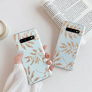 voordelige Galaxy Note-serie hoesjes / covers-hoesje Voor Samsung Galaxy S9 / S9 Plus / S8 Plus Transparant / Patroon Achterkant Transparant TPU
