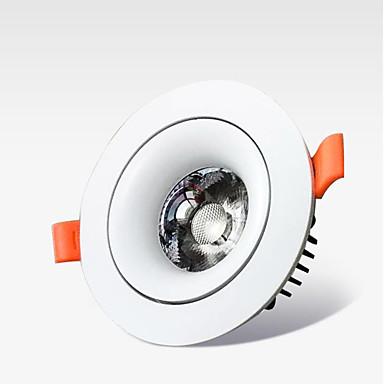 olcso Beltéri lámpák-led integrált lencséjű acél mennyezeti hengerfény 7w otthoni bútorozású bevásárlóközpont hotel villa dedikált reflektor hengerfényszóróval