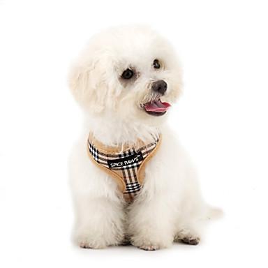 رخيصةأون أطواق ومقاود الكلاب-قط كلب أربطة متنفس الأمان Plaid / Check كلاسيكي قماش صاف أحمر أزرق زهري