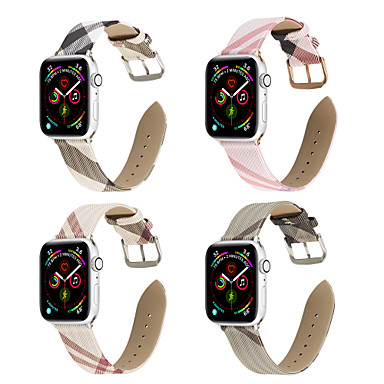 voordelige Smartwatch-accessoires-horlogeband voor Apple Watch-serie 5 / Apple Watch-serie 5/4/3/2/1 / Apple Watch-serie 4 Apple Leather Loop lederen polsband