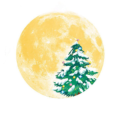 30 سنتيمتر عيد القمر الجدار ملصق نوم المراحيض المطبخ ذاتية اللصق خلفية للإزالة عدم الانزلاق للديكور المنزل