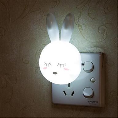 olcso Intelligens Lights-rajzfilm nyúl led éjszakai lámpa kapcsoló fali éjszakai lámpa velünk dugó ajándékok gyerek / baba / gyermek hálószoba éjjeli lámpa