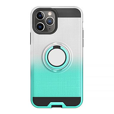 voordelige iPhone-hoesjes-hoesje Voor Apple iPhone 11 / iPhone 11 Pro / iPhone 11 Pro Max Ringhouder / Doorzichtig Achterkant Effen TPU