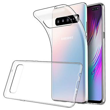 Недорогие Чехлы и кейсы для Galaxy S-Кейс для Назначение SSamsung Galaxy Galaxy S10 / Galaxy S10 Plus Защита от удара / Защита от пыли Кейс на заднюю панель Однотонный ТПУ