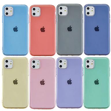 Недорогие Кейсы для iPhone-Кейс для Назначение Apple iPhone 11 / iPhone 11 Pro / iPhone 11 Pro Max Матовое / Прозрачный Кейс на заднюю панель Однотонный ТПУ