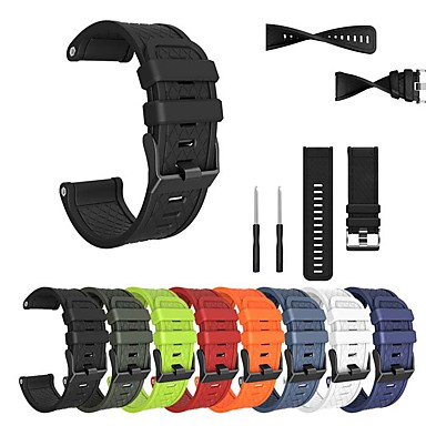baratos Acessórios para Smartwatch-Pulseira de relógio para fenix 5x / fenix 3 hr / fenix 3/2 garmin fivela clássica pulseira de silicone