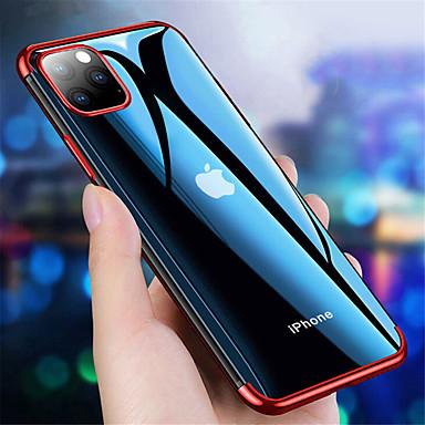 economico Custodie per iPhone 7 Plus-custodia per iphone11 / 11pro / 11promax / x / xs / xr / xsmax / 8p / 8 / 7p / 7 / 6p / 6 placcatura / ultra-sottile / cover posteriore trasparente tpu tinta unita