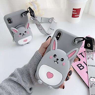 Недорогие Кейсы для iPhone 6 Plus-Кейс для Назначение Apple iPhone 11 / iPhone 11 Pro / iPhone 11 Pro Max Кошелек / С узором Кейс на заднюю панель Животное / Мультипликация силикагель