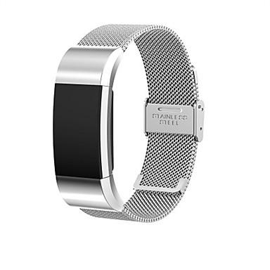 voordelige Smartwatch-accessoires-horlogeband voor fitbit charge 2 fitbit milanese lus roestvrijstalen polsband kaartknop