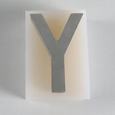 preiswerte Backzubehör & Geräte-kreative Zement Großbuchstaben y Wanddekoration Sichtbeton Home Art Wanddekoration Silikagel Schimmel