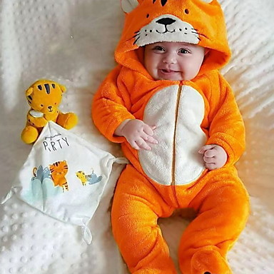 cheap Baby & Toddler Boy-Baby Boys' Basic Print Long Sleeve Romper Yellow