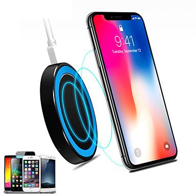 Недорогие Беспроводные зарядные устройства-универсальное маленькое тонкое круглое беспроводное зарядное устройство для беспроводной зарядки мобильных телефонов стандарта ци