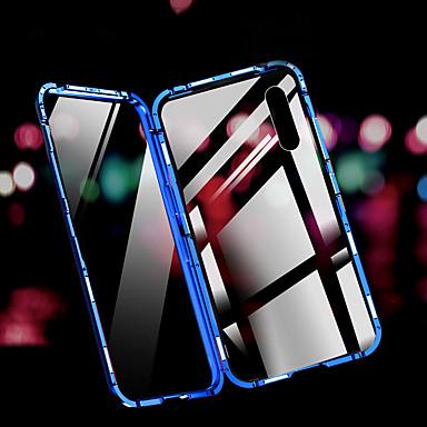 رخيصةأون أغطية-غطاء من أجل Vivo فيفو X27 / فيفو IQOO ضد الصدمات غطاء خلفي لون سادة زجاج مقوى / ألمنيوم